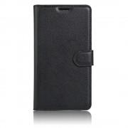 Huawei Nova etui litchi pu læder sort Mobiltelefon tilbehør