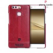 Til Huawei P9 rød cover Pierre Cardin design læder Mobiltelefon tilbehør