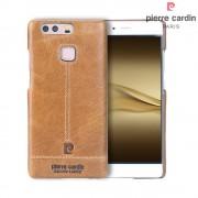 Til Huawei P9 brun cover Pierre Cardin design læder Leveso.dk Mobiltelefon tilbehør