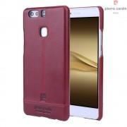 Til Huawei P9 Plus rød cover Pierre Cardin design læder Leveso.dk Mobil tilbehør