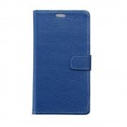 Til Huawei Mate 9 Pro blå cover etui i ægte læder Mobiltelefon tilbehør