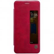 Klassisk rød cover til Huawei Mate 9 Pro med smart view vindue Mobil tilbehør Leveso.dk
