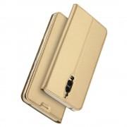 Huawei Mate 9 Pro slim cover med kort lomme guld Mobiltelefon tilbehør Leveso.dk