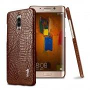 Til Huawei Mate 9 Pro brun cover croco læder Leveso.dk Mobil tilbehør