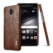 brun Cover til Huawei Mate 9 croco læder Huawei Mobil tilbehør hos Leveso.dk