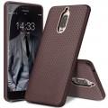 Huawei Mate 9 Pro cover mesh design ægte læder mørkebrun