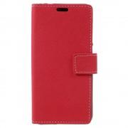 til Huawei Honor 8 Lite rød cover pung med kort lommer, Huawei cover og Mobil tilbehør hos Leveso.dk