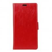 Huawei P10 rød læder flip cover med kortholder Mobilcover