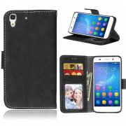 Huawei Y6 flip cover retro stil Mobilcovers