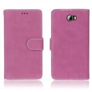 til Huawei Y5 2 flip cover i retro stil rosa Mobil tilbehør