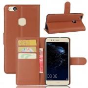 Huawei P10 Lite praktisk flip cover brun, Huawei p10 lite mobiltilbehør