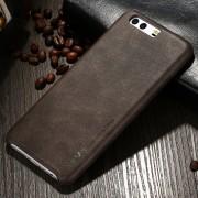 Læder bagcover mørkebrun til Huawei P10, Mobil tilbehør