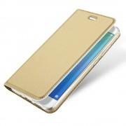 Slim flip cover guld Huawei p10 lite Mobilcovers