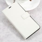 Huawei P10 lite hvid klassisk flip cover ægte læder Mobilcovers