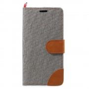 JC-style Huawei P10 lite flip cover med lommer grå Mobilcover
