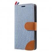 JC-style Huawei P10 lite flip cover med lommer lyseblå Mobilcover