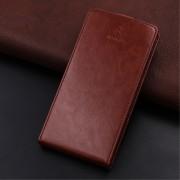 Vertikal flip cover brun til Huawei P10 lite med kortholder Mobilcover