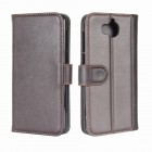 Huawei Y6 2017 cover split læder brun Mobilcovers