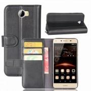 Huawei Y5 2 læder flip cover med lommer Mobil tilbehør