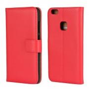 Flip cover Huawei P10 lite i split læder rød Mobilcover
