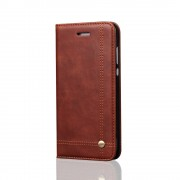 Sting line flip cover brun til Huawei P10 lite Mobilcover