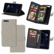 Retro cover med multi lommer grå Huawei P10 Mobilcovers
