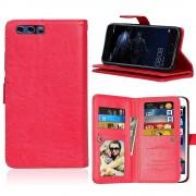 Huawei P10 cover med multi lommer rød Mobilcovers