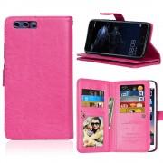 Huawei P10 cover med multi lommer rosa Mobilcovers