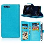 Huawei P10 cover med multi lommer blå Mobilcovers