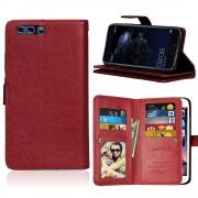 Huawei P10 cover med multi lommer brun Mobilcovers