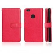 Cover med multi lommer rød Huawei P10 lite Mobilcover