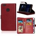Cover med multi lommer Huawei P10 lite brun