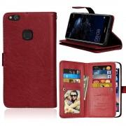 Cover med multi lommer brun til Huawei P10 lite Mobilcover