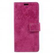 Huawei P9 lite mini cover i retro stil rosa Mobilcovers