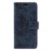 Huawei P9 lite mini cover i retro stil blå Mobilcovers