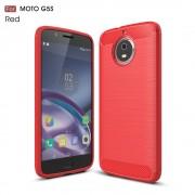 Motorola Moto G5S cover armor carbon rød Mobilcovers