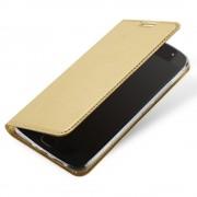 Slim flip cover guld Moto G5S plus Mobil tilbehør