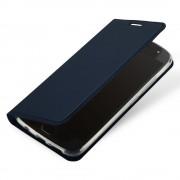 Slim flip cover blå Moto G5S plus Mobil tilbehør