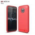C-style armor cover rød Motorola moto x4 Mobilcovers