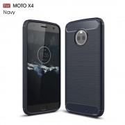 C-style armor cover blå Motorola moto x4 Mobilcovers
