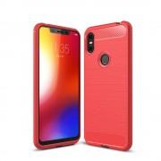 rød C-style armor case Motorola One Mobil tilbehør