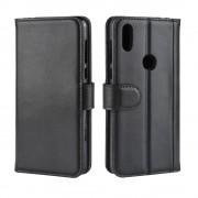 sort Flip cover ægte læder Motorola One Mobil tilbehør