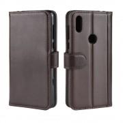 brun Flip cover ægte læder Motorola One Mobil tilbehør