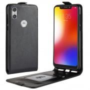 vertikal flip cover Motorola One sort Mobil tilbehør