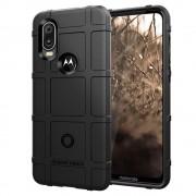 sort Rugged shield case Motorola One Vision Mobil tilbehør