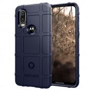 blå Rugged shield case Motorola One Vision Mobil tilbehør