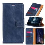 blå Elegant læder cover Motorola One Vision Mobil tilbehør