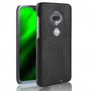 sort Case croco Motorola Moto G7 / G7 plus Mobil tilbehør