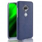 blå Case croco Motorola Moto G7 / G7 plus Mobil tilbehør