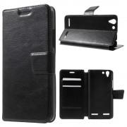 LENOVO K5 cover etui med kort lommer sort Leveso Mobil tilbehør